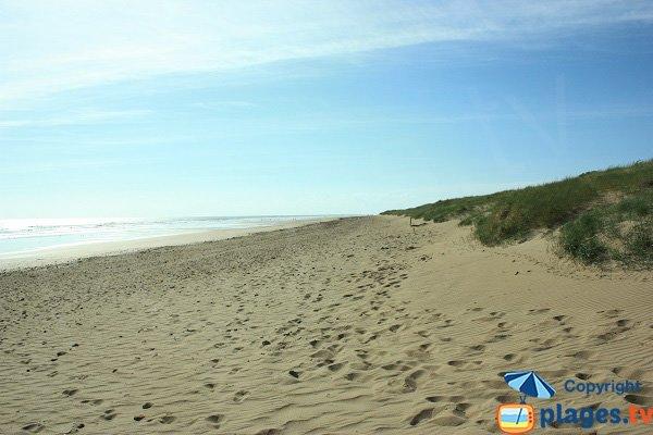 Plage du Golf - St Jean de Monts - vue vers le nord