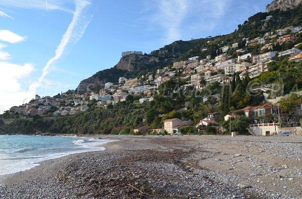 Sand beach in Roquebrune Cap Martin