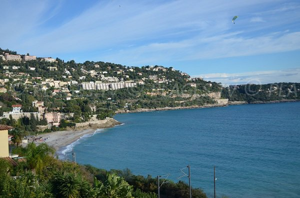 Golfe Bleu beach in Roquebrune Cap Martin in France