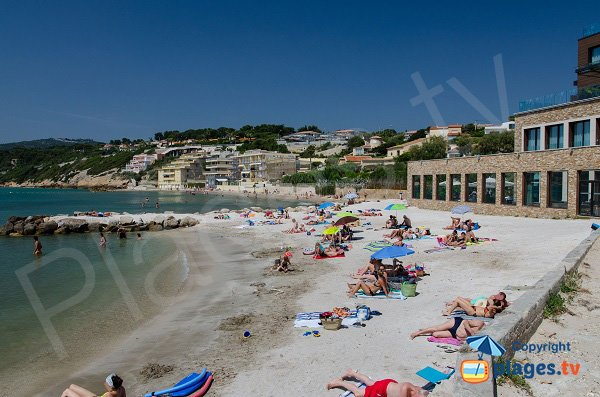 Photo de la plage de la Gorguette à Sanary sur Mer