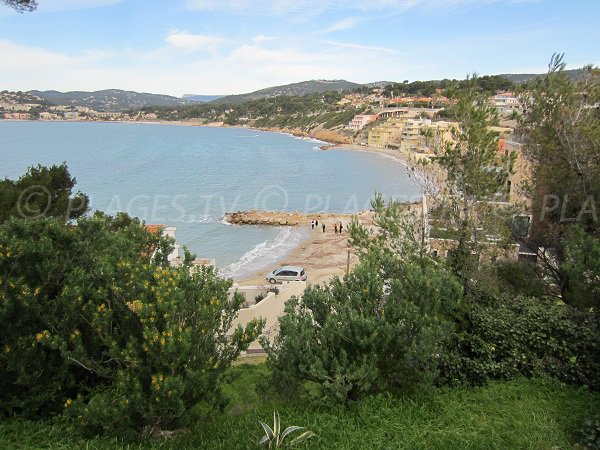 Gorguette beach in Sanary sur Mer