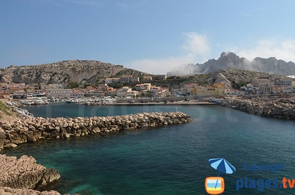 Harbor and beach of Goudes in Marseille