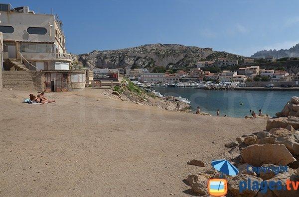 Photo de la plage des Goudes à Marseille