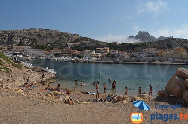 Goudes beach in Marseille in France