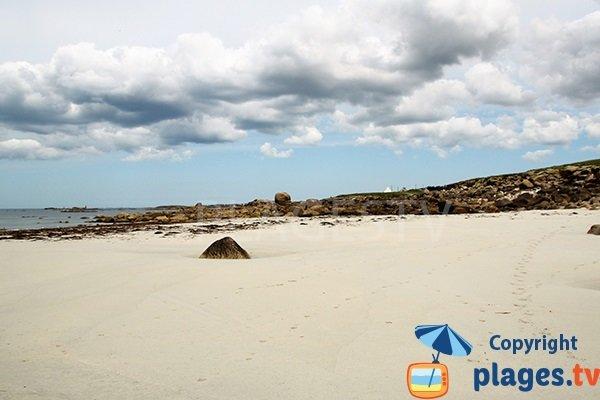Littoral autour de la plage du Gouérou à Lampaul Plouarzel