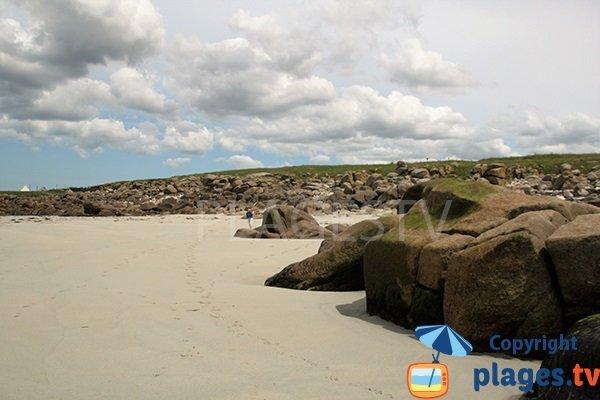 Côte rocheuse à Lampaul Plouarzel