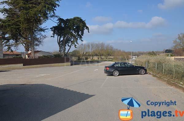 Parking de la plage du Goulet - St Vincent sur Jard