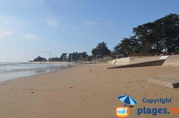 Photo de la plage du Goulet à St Vincent sur Jard