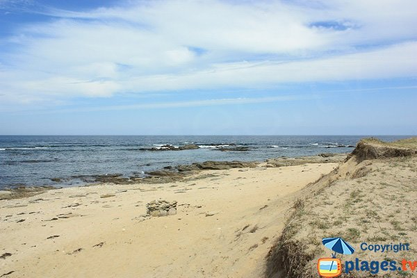 Gournaise beach - Ile d'Yeu in France