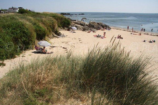 Extrémité de la plage de la Govelle