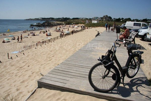 Vue globale de la plage de la Govelle
