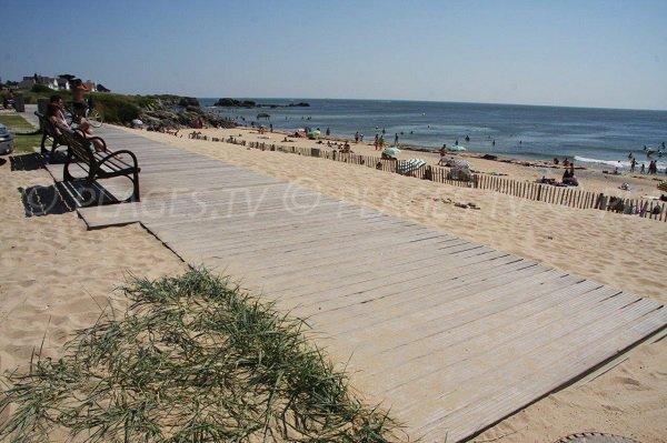 Bancs sur la plage de la Govelle