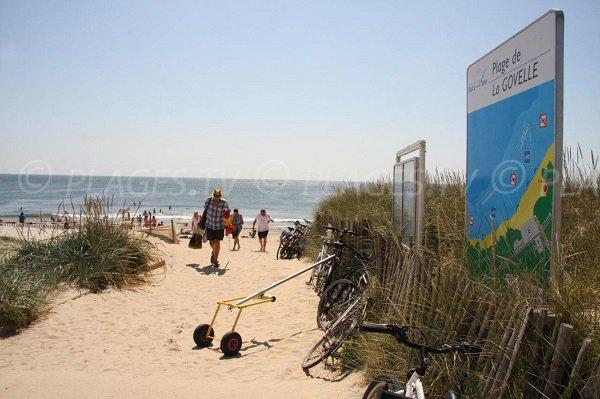 Accès à la plage de la Govelle