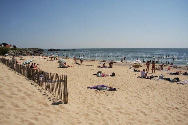 Govelle beach in Batz sur Mer in France