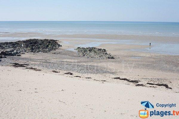 Rochers sur la plage de St Pair sur Mer