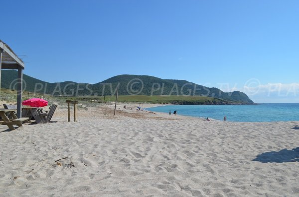 Grand Capo beach - South view - Ajaccio