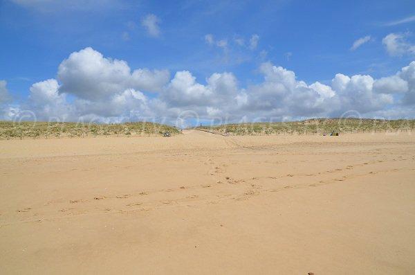 Dunes de la plage du Crohot au Cap Ferret