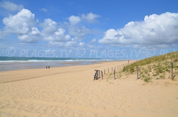 Grand Crohot beach in Cap Ferret in France
