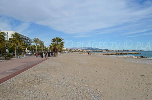 Sand beach in Cagnes sur Mer in France