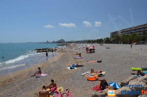 Photo de la plage de sable de Cagnes sur Mer