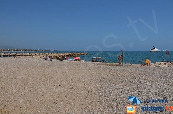 Zone de sable sur la plage de Cagnes sur Mer