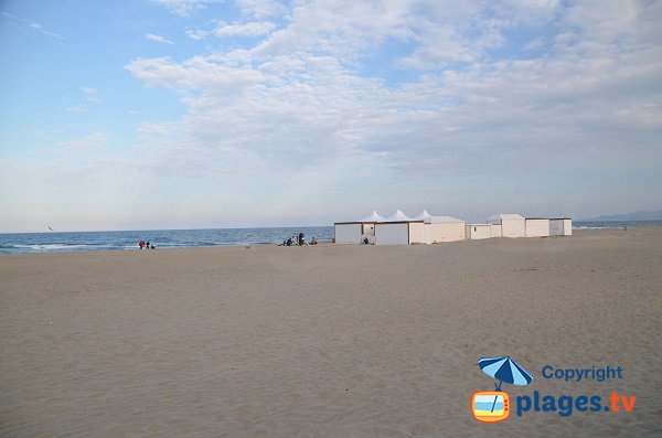 Spiaggia privata Grand Large a Canet en Roussillon