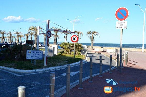 parcheggio della spiaggia Grand Large