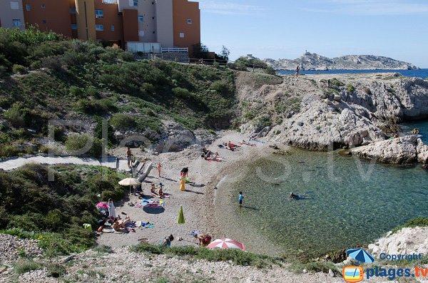 Beach near the harbor of Frioul - Marseille