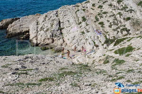 Grand Soufre creek in Frioul island - Marseille