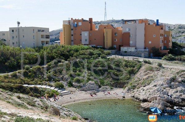 Photo de la plage du Grand Soufre à Frioul