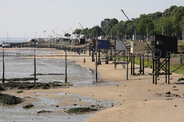 row of fisheries in Saint Nazaire