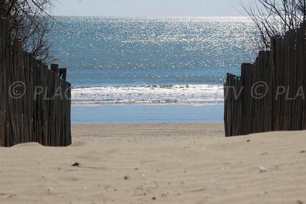 Accès à la plage du Grand Travers à La Grande Motte