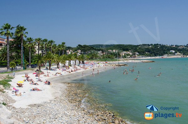 Photo de la plage du Grand Vallat de Bandol