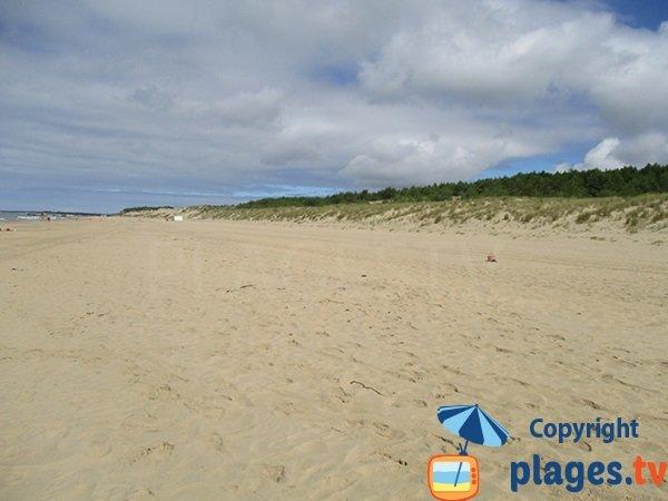 Grande plage de sable à Saint Palais sur Mer