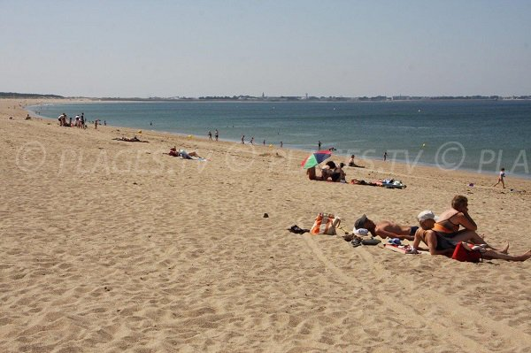 Grande Falaise beach in La Turballe in France