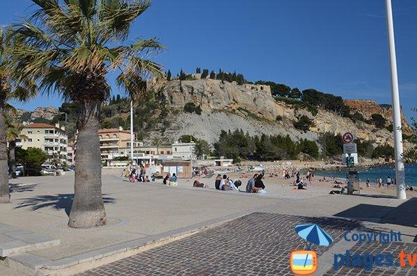 Photo de la plage de Cassis dans le centre