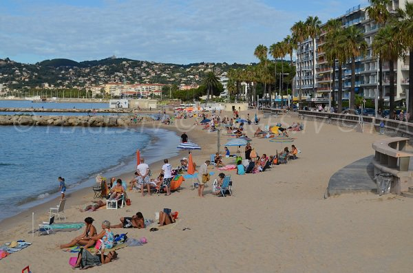 Handicap accessible area on the Juan les Pins beach
