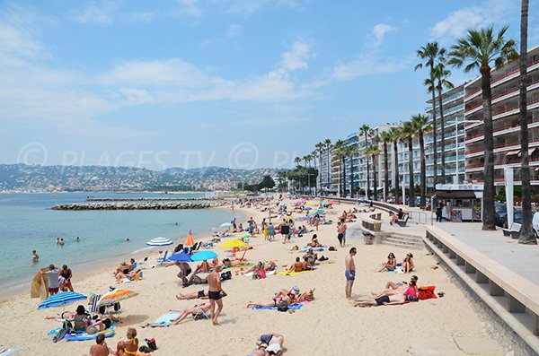 Photo of the Juan les Pins beach and view on Golfe-Juan