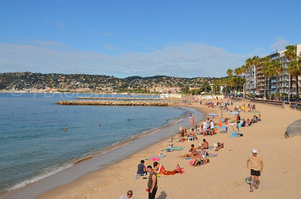 public beach in Juan les Pins - France