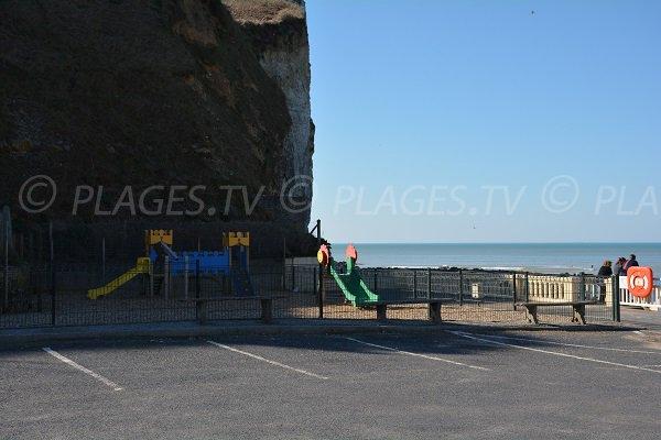 playground for children on Grandes Dalles beach - St Pierre en Port