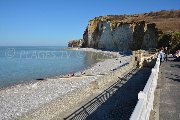 Plage des grandes dalles saint pierre en port 76 seine - Camping port blanc saint pierre quiberon ...