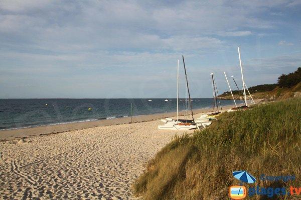 Grande plage de sable à Belle Ile en Mer