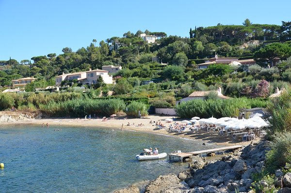 Photo of Graniers beach in summer in Saint Tropez