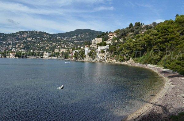 Grasseuil beach in Saint Jean Cap Ferrat