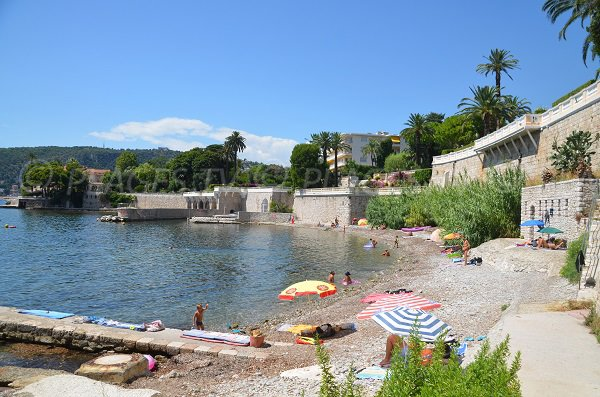 Photo of the Grasseuil beach Villefranche sur Mer on the French Riviera