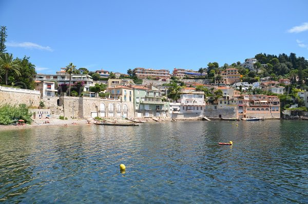 Grasseuil beach of Villefranche sur Mer - view from the sea