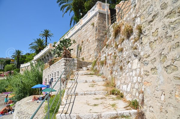 Stairs of the Grasseuil beach