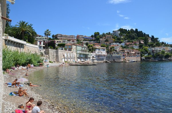 Grasseuil beach in Villefranche sur Mer in France