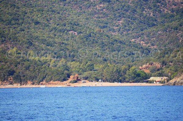 Photo de la plage de Gratelle à proximité de la réserve de Scandola