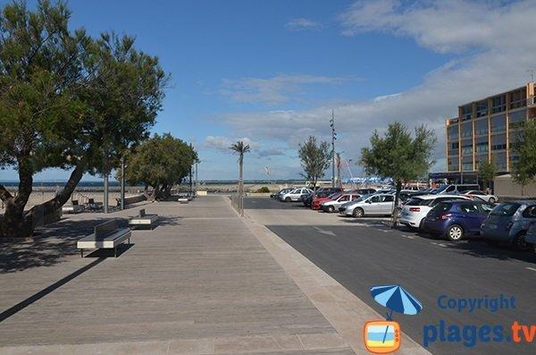 Parking de la plage du Grau d'Agde